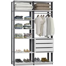 guarda-roupa-closet-com-3-gavetas-clothes-9008-em-mdp-branco-e-grafite-c-EC000024977