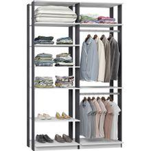 guarda-roupa-closet-com-7-prateleiras-clothes-9010-em-mdp-branco-e-grafite-c-EC000024987