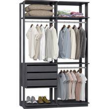 guarda-roupa-closet-3-gavetas-clothes-9013-em-mdp-grafite-c-EC000025000