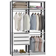 guarda-roupa-closet-3-gavetas-clothes-9013-em-mdp-branco-e-grafite-c-EC000025002