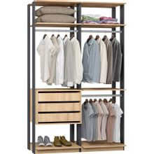 guarda-roupa-closet-3-gavetas-clothes-9013-em-mdp-bege-claro-e-grafite-c-EC000025004