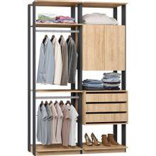 guarda-roupa-closet-2-portas-e-3-gavetas-clothes-9014-em-mdp-bege-claro-e-grafite-c-EC000025009