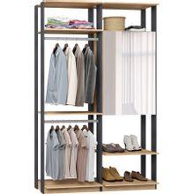 guarda-roupa-closet-com-2-portas-clothes-9015-em-mdp-bege-claro-e-grafite-c-EC000025014