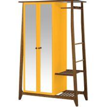 armario-com-espelho-para-quarto-em-madeira-2-portas-amarelo-e-marrom-stoka-a-EC000028535
