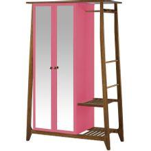 armario-com-espelho-para-quarto-em-madeira-2-portas-pink-e-marrom-stoka-a-EC000028538