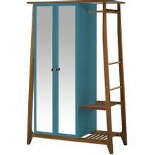 armario-com-espelho-para-quarto-em-madeira-2-portas-azul-caribe-e-marrom-stoka-a-EC000028539
