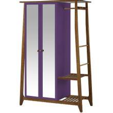 armario-com-espelho-para-quarto-em-madeira-2-portas-roxo-e-marrom-stoka-a-EC000028540