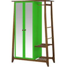 armario-com-espelho-para-quarto-em-madeira-2-portas-verde-e-marrom-stoka-a-EC000028542