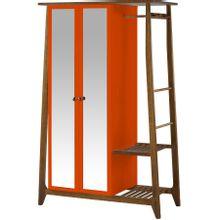 armario-com-espelho-para-quarto-em-madeira-2-portas-laranja-e-marrom-stoka-a-EC000028544