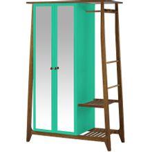 armario-com-espelho-para-quarto-em-madeira-2-portas-verde-agua-e-marrom-stoka-a-EC000028545