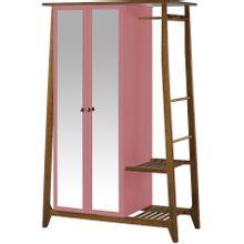 armario-com-espelho-para-quarto-em-madeira-2-portas-salmao-e-marrom-stoka-a-EC000028546