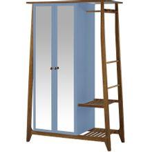 armario-com-espelho-para-quarto-em-madeira-2-portas-azul-claro-e-marrom-stoka-a-EC000028547