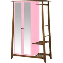 armario-com-espelho-para-quarto-em-madeira-2-portas-rosa-e-marrom-stoka-a-EC000028548