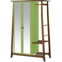 armario-com-espelho-para-quarto-em-madeira-2-portas-verde-claro-e-marrom-stoka-a-EC000028551
