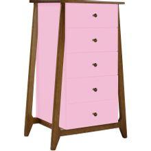 comoda-5-gavetas-stoka-em-madeira-marrom-e-rosa-a-EC000028622