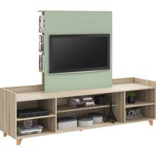 conjunto-painel-para-tv-de-ate-50--e-rack-em-mdp-aurora-bege-claro-e-verde-c-EC000025238