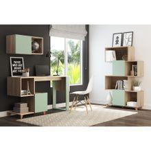 conjunto-mesa-de-escritorio-com-estante-e-nicho-em-mdp-aurora-bege-claro-e-verde-a-EC000025250