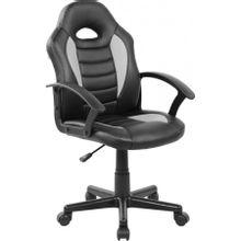 cadeira-gamer-infantil-pel--9353-em-pp-e-pu-giratoria-preta-e-cinza-com-braco-b-EC000029926