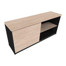 armario-de-escritorio-baixo-em-mdp-1-porta-preto-e-bege-claro-natus-40-bramov-a-EC000017456
